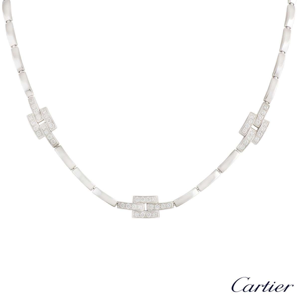 Cartier White Gold Maillon Necklace 0.82ct